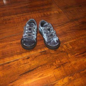 Vans blue velvet baby (walker) slip on